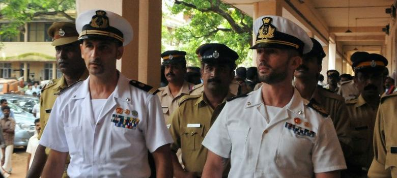 Italians are pleading their marines' innocence in India by pointing to a US injustice from 1927