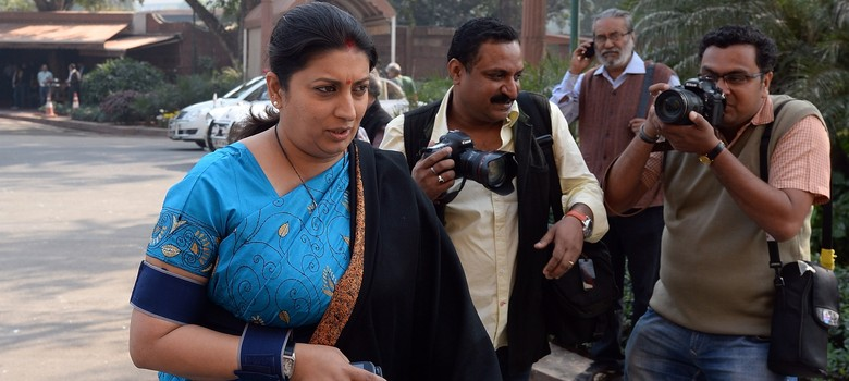 'Sifarish raj': Smriti Irani gets called out on Twitter for her response to a journalist