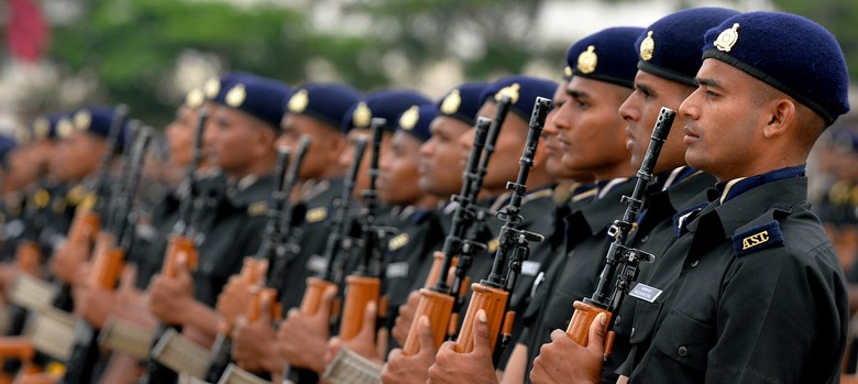Two charts show how much Indian soldiers are paid vs their Britain and US counterparts