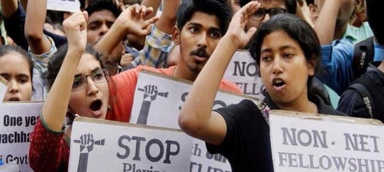 JNU student union president arrested  – even though organisation had condemned 'seditious' slogans