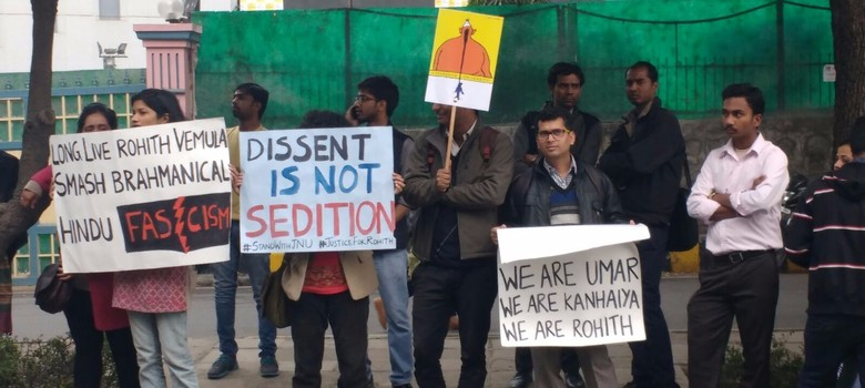 Why Hyderabad University students aren't getting the same support as JNU did