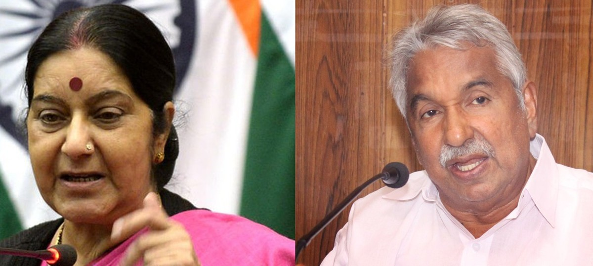 Sushma Swaraj and Oommen Chandy both claim credit for evacuating 29 Indians from Libya
