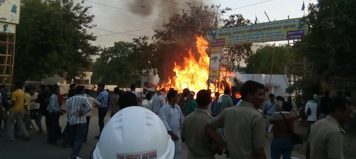 Mathura clashes: Two policemen among 22 dead in violence, 124 arrested so far