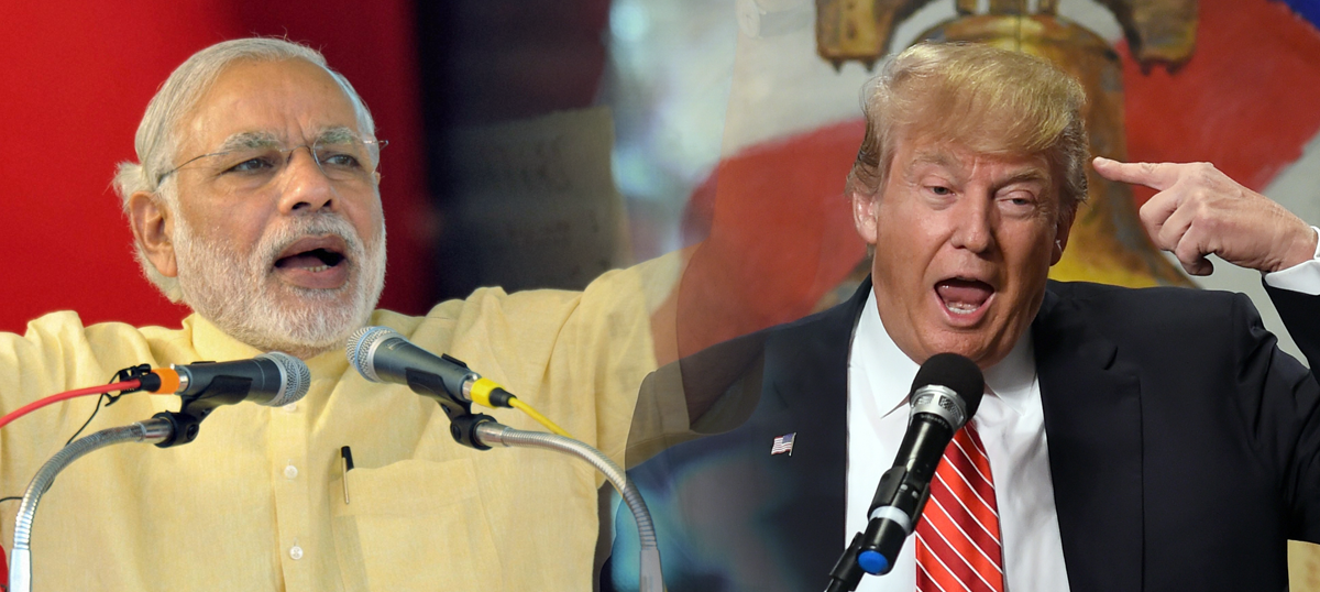 Modi and Trump may come from vastly different backgrounds, but in politics they are twins