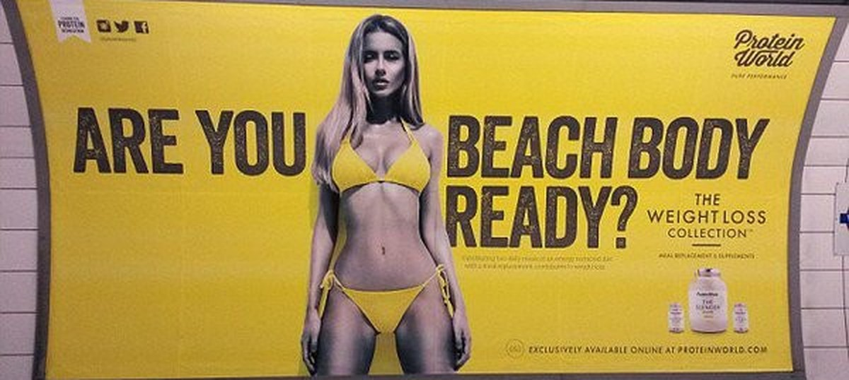 Ads depicting negative body image may soon be banned in London's transport network