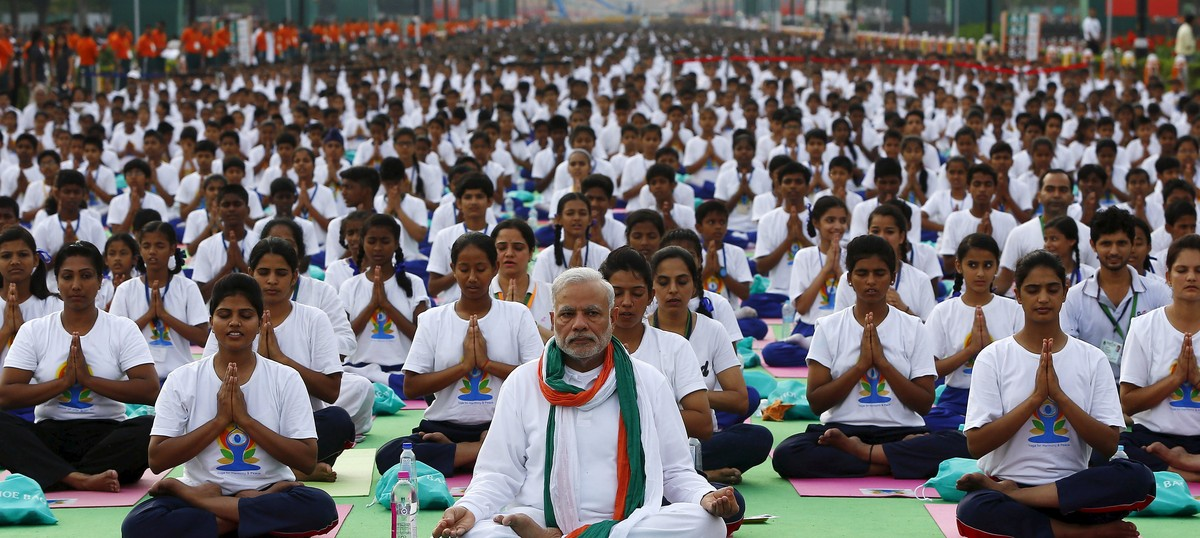 Barring flag hoisting, Yoga Day seems almost at par with Independence and Republic Days