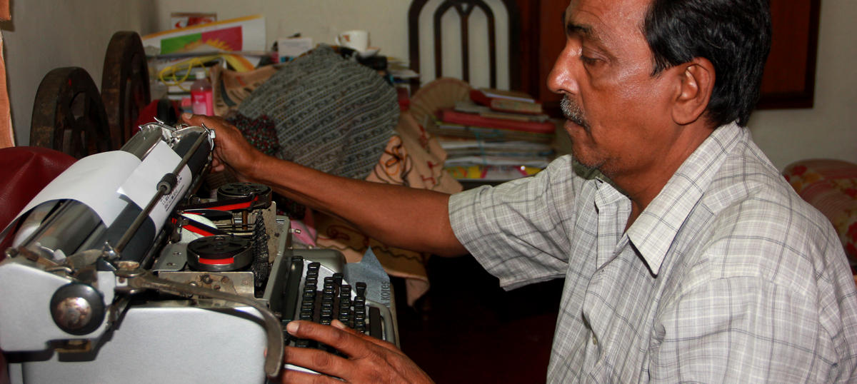 As the world goes digital, one man helps keep Kolkata's typewriters tapping away