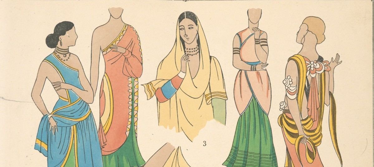 Illustrations Indian Women S Fashion From The Early 20th Century And Before
