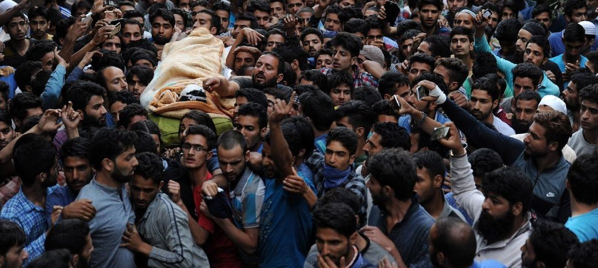 In South Kashmir, all roads lead to the funeral of Burhan Wani, the poster boy of the new militancy