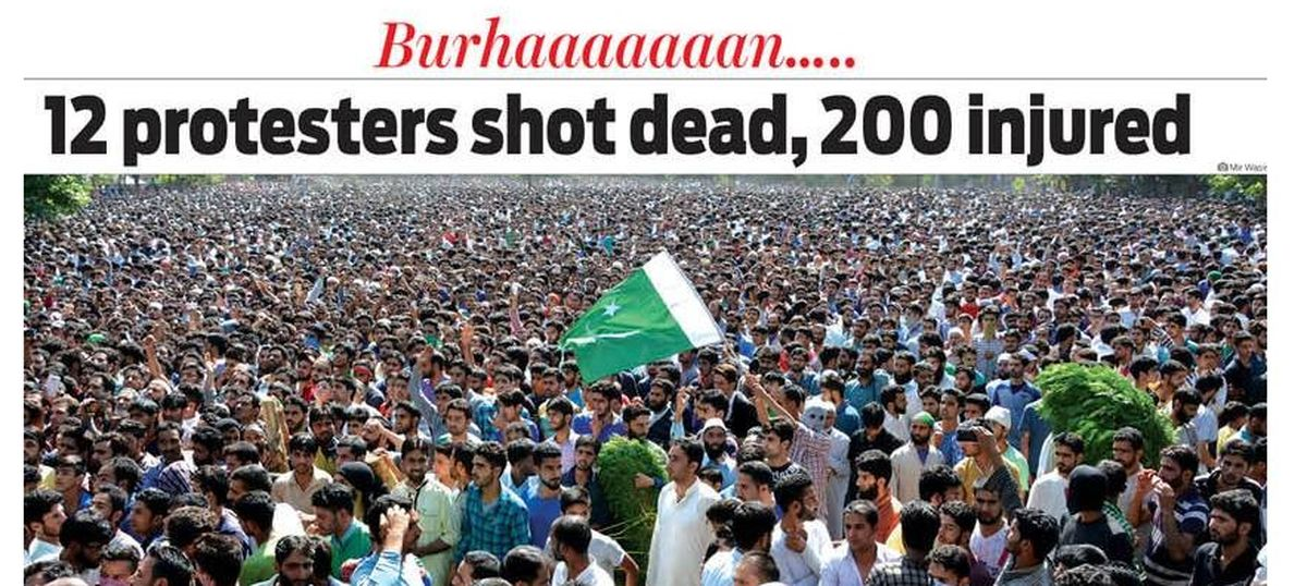 Bidding adieu to 'Commander Burhan': How Kashmir's newspapers covered the death of a militant