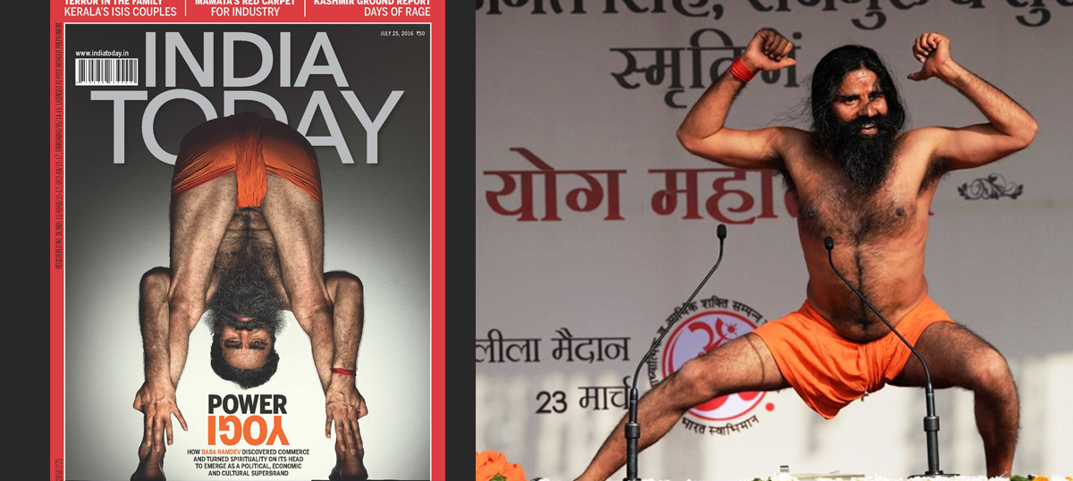 'It's a weapon of mass disgustion': Twitter trolls India Today's cover image of the yoga guru Ramdev