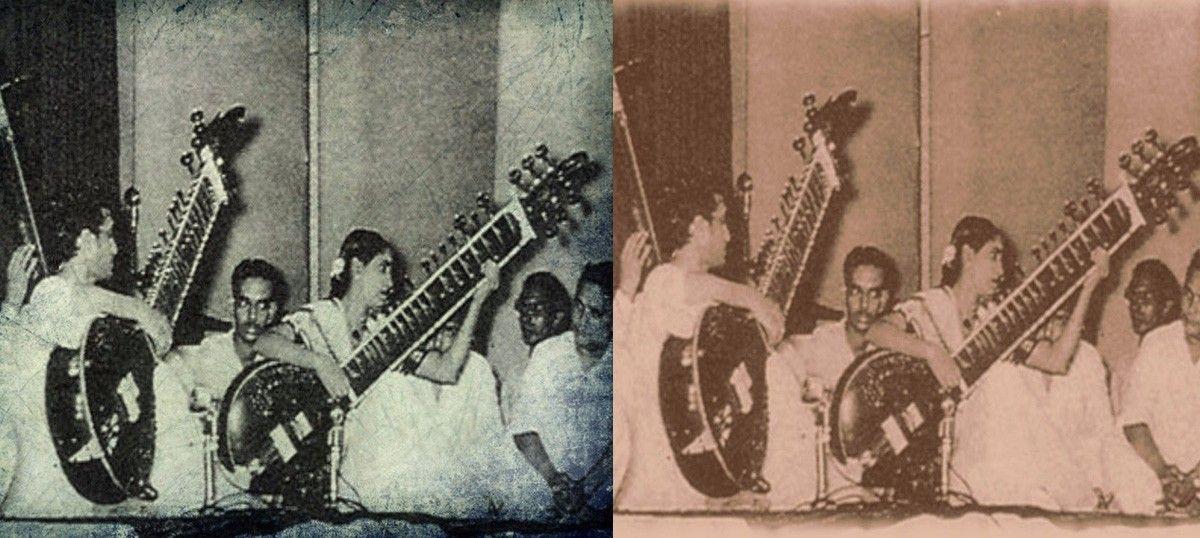 A melodic surbahar duet by Annapurna Devi and Ravi Shankar