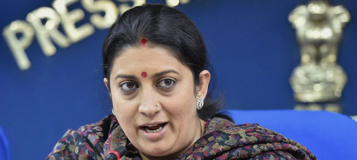 Smriti Irani loses spot in Cabinet Committee on Parliamentary Affairs