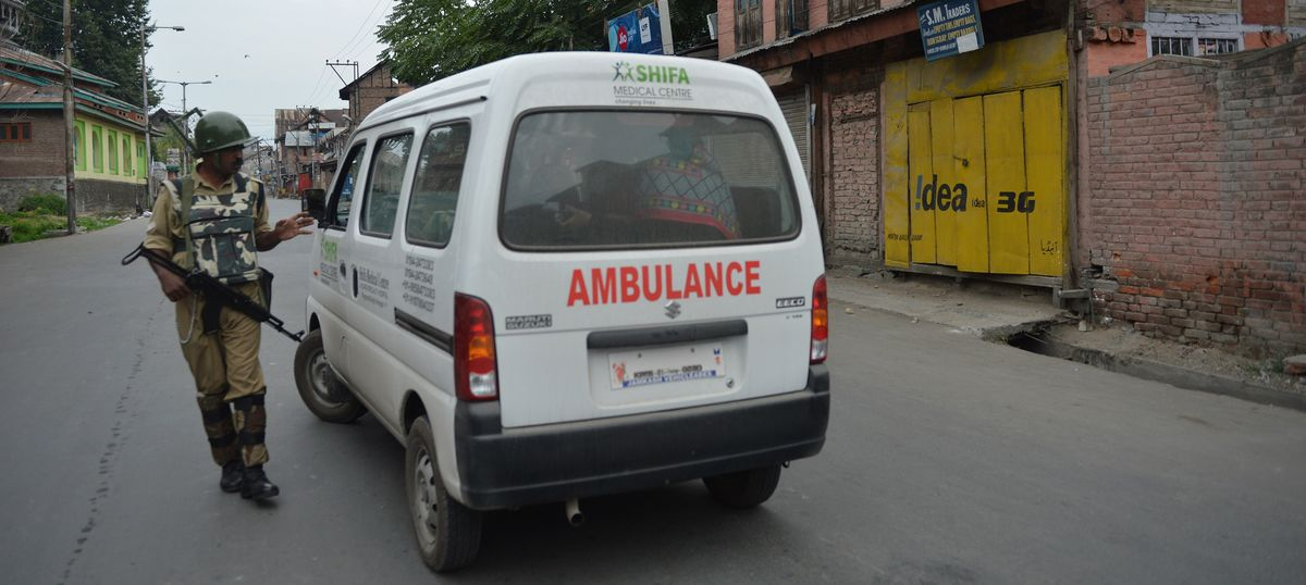 'Sometimes necessary' to check if ambulances are being used by stone pelters, says the CRPF