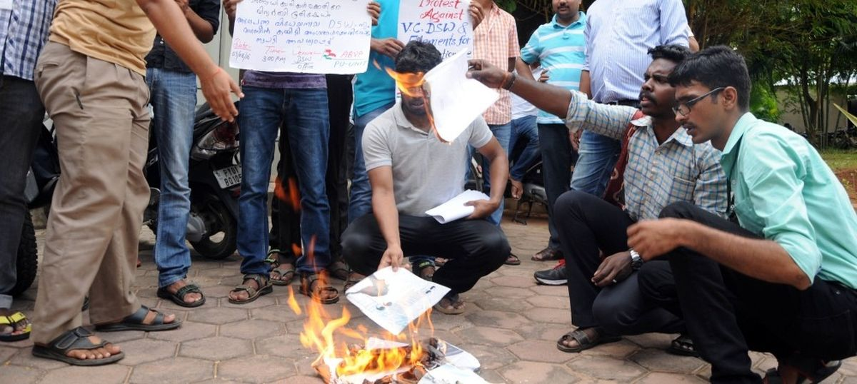 All eyes on Pondicherry varsity as  Left and Right spar over 'anti-national' campus magazine