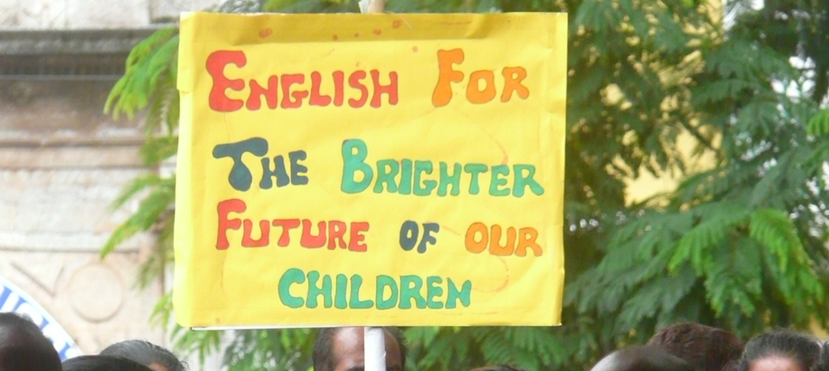 Brahmin groups lead movements against English education – but they have benefitted the most from it
