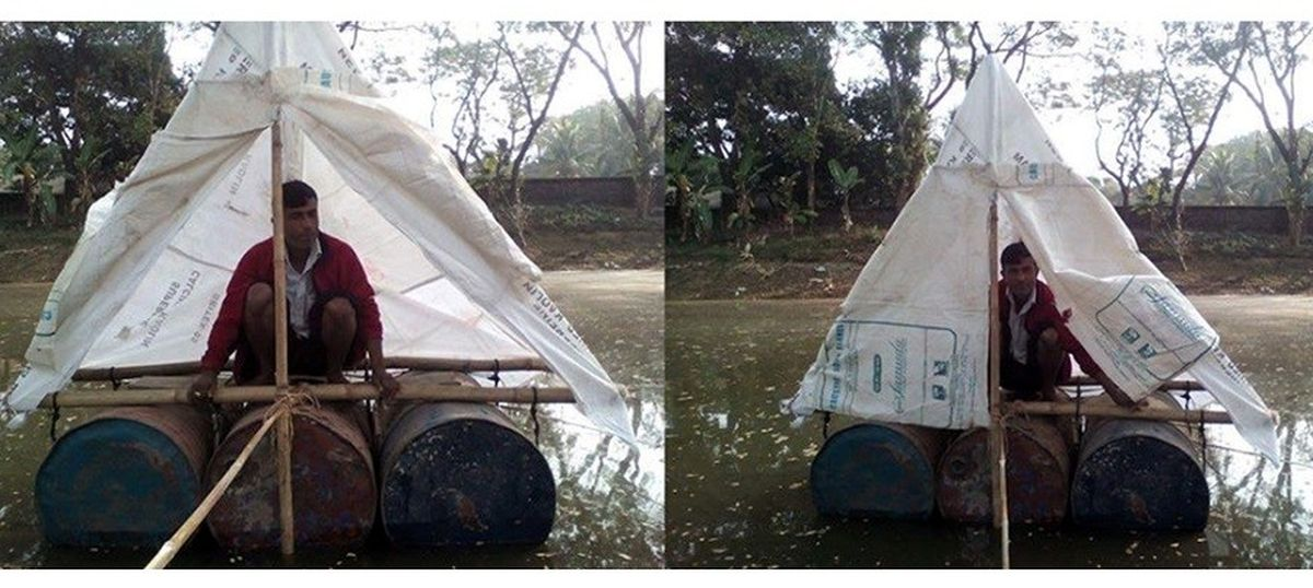 Residents of Bangladesh's wetlands are using floating toilets to end open defecation