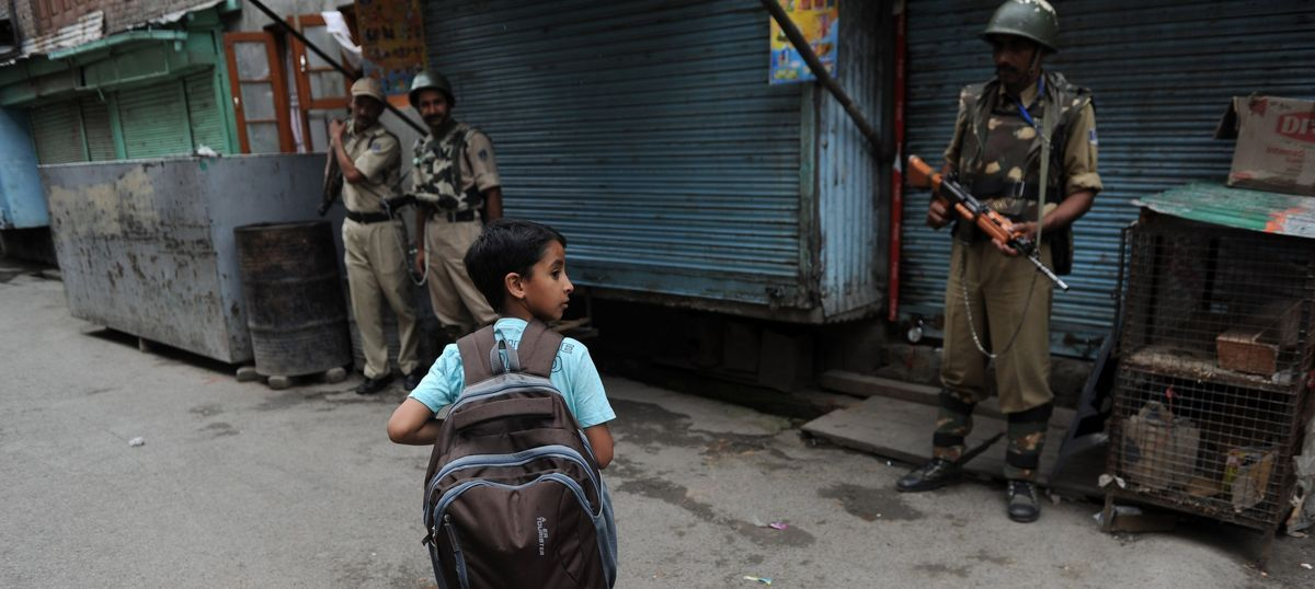 In Kashmir, students lost out on school for close to three months – but still have exams coming up
