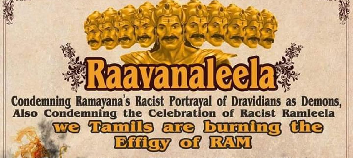 Why a Dravidian fringe group burnt effigies of Ram and Sita in Chennai this year