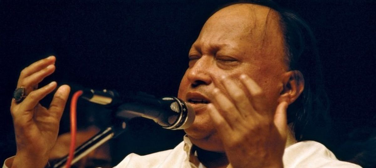 Nusrat Fateh Ali Khan's first song in Hindi cinema (not the one you're thinking of)