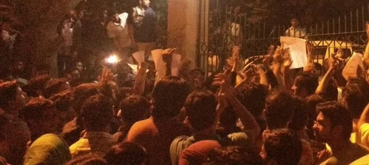 JNU VC, other officials 'confined' by protestors in university after student goes missing