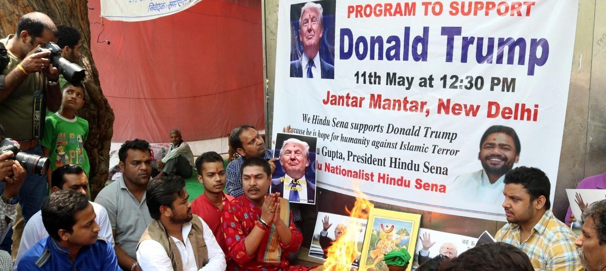 'It's confirmed': Hindu Sena throws Donald Trump a victory party in Delhi days before elections