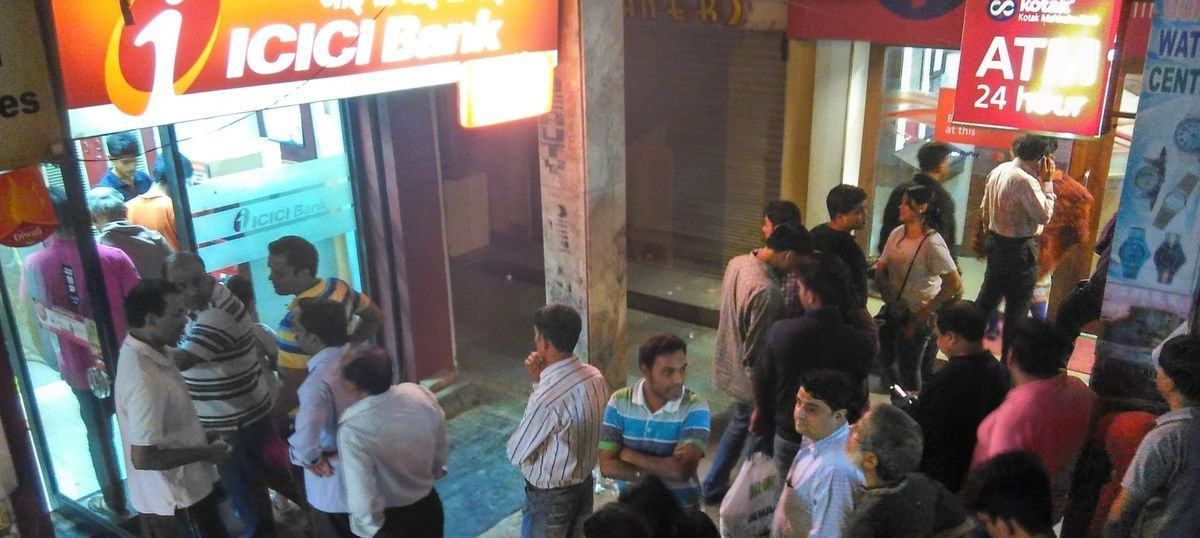 'I don't want any black money talk': Indians rush to ATMs as Modi scraps Rs 500 and Rs 1,000 notes