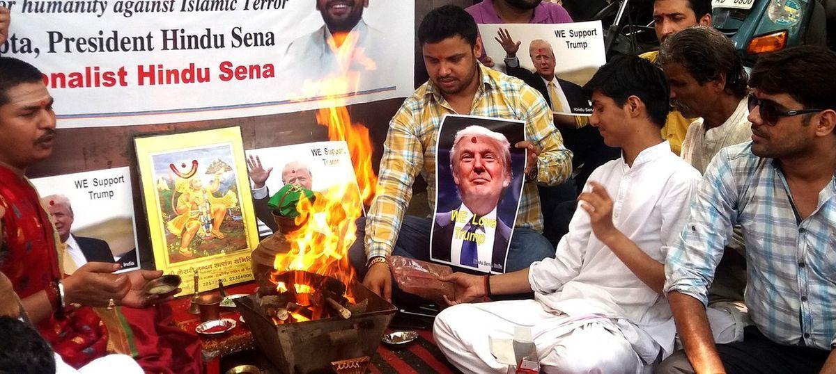 Hindu Sena celebrates Donald Trump's lead in US electoral race