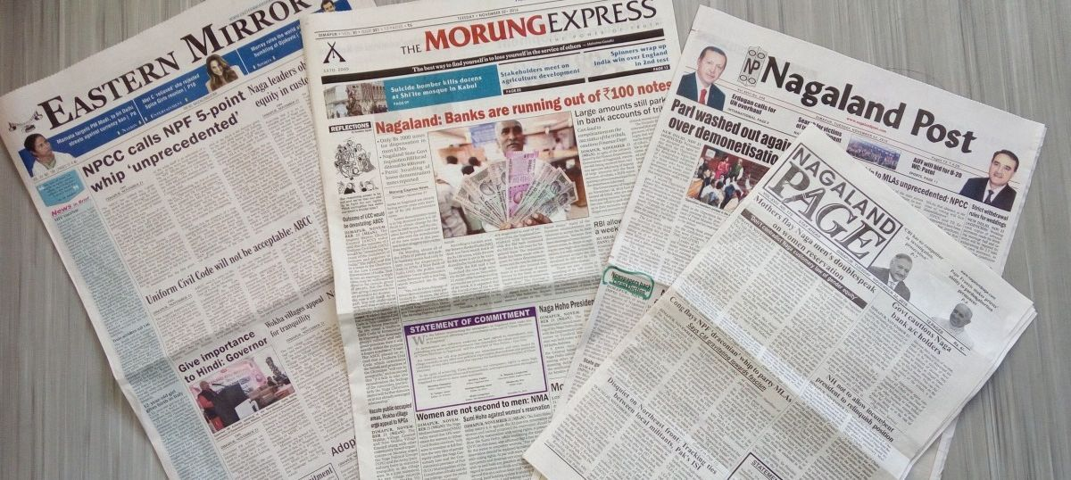 Editors of seven Nagaland newspapers risk revenue hit to support clean elections campaign