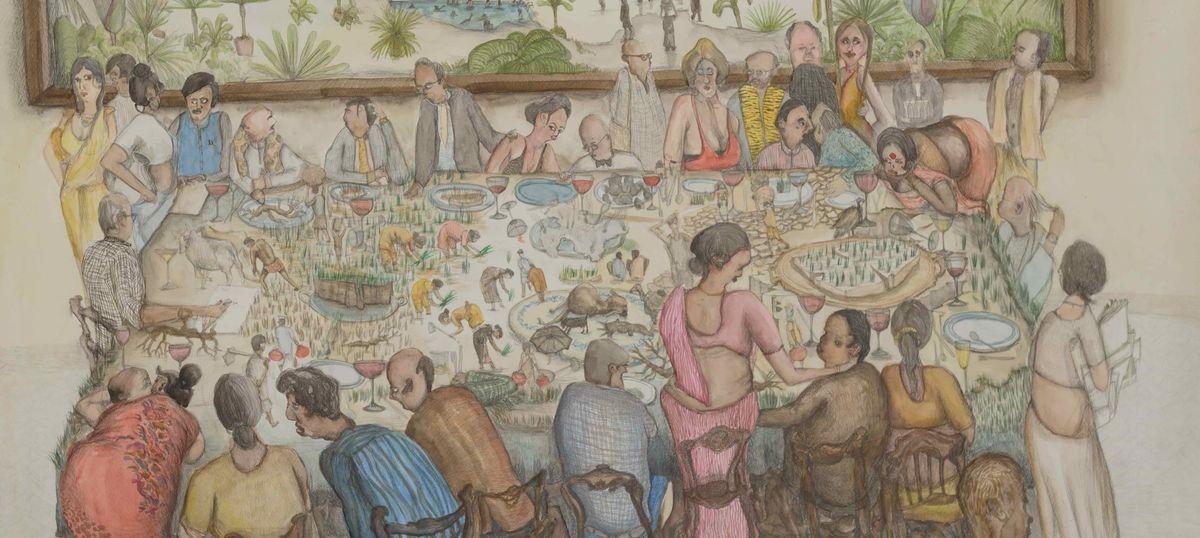 Wood from Ships: Memory is artist Nityan Unnikrishnan's paint of choice