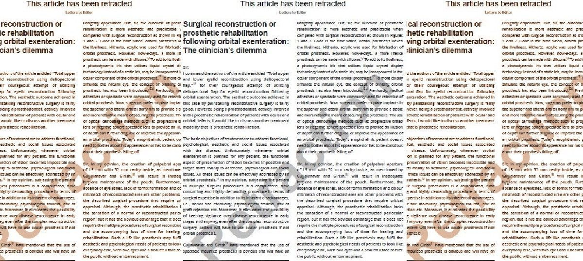 Breach of privacy: Medical journal retracts a paper for a photo used without patient's permission