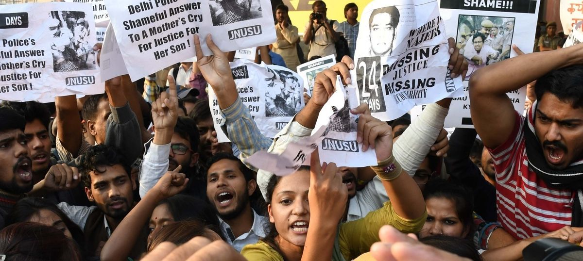 Missing JNU student: Police send teams with sniffer dogs to campus to locate Najeeb Ahmad