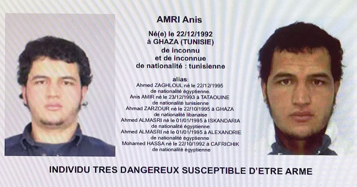 Berlin market attack: Tunisian suspect Anis Amri killed in Milan shootout