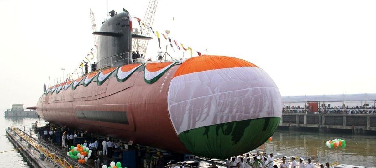 India launches second Scorpene-class submarine, Khanderi