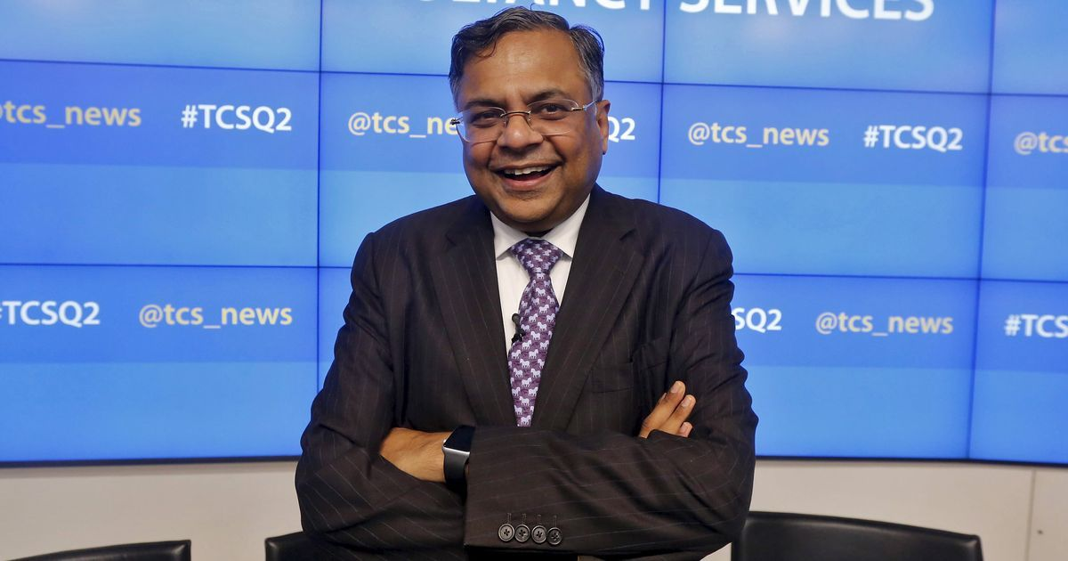 TCS chief Natarajan Chandrasekaran appointed Tata Sons' new chairperson
