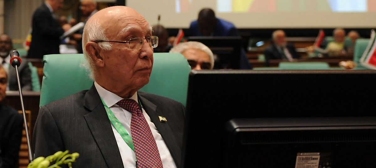 India's 'nuclearisation' of the Indian Ocean has destabilised the region, says Sartaj Aziz