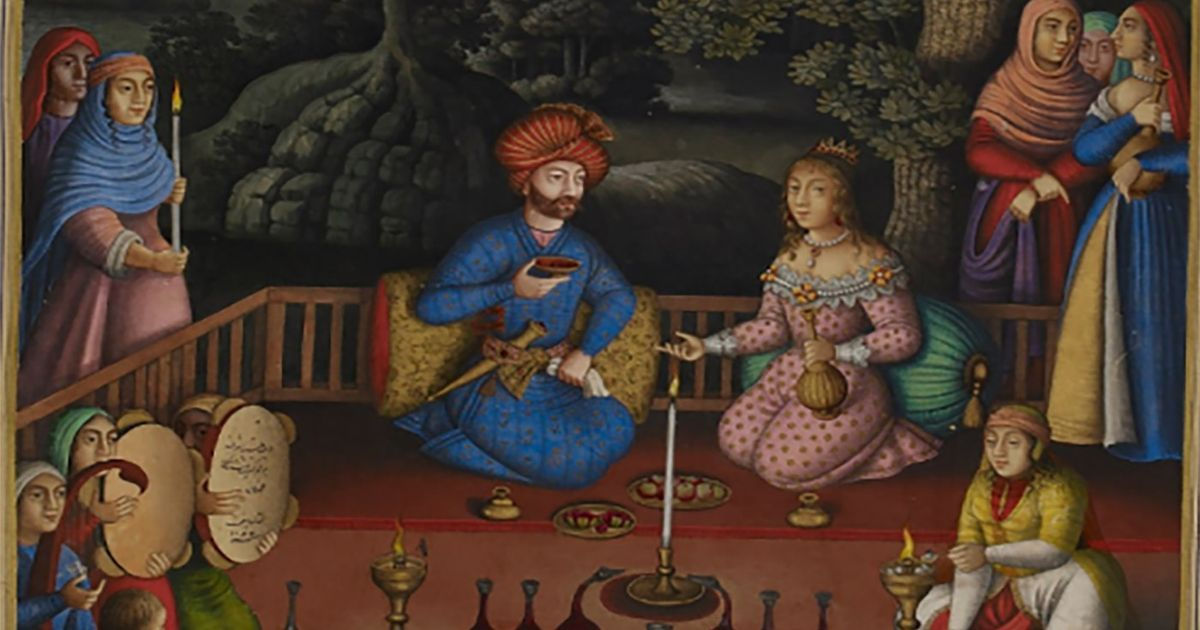 These illustrated Persian manuscripts depict the highs and lows of love