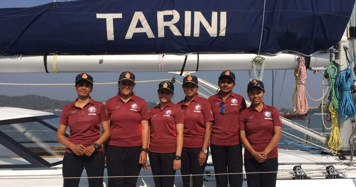 Indian Navy inducts INSV Tarini and an all-women crew to sail her