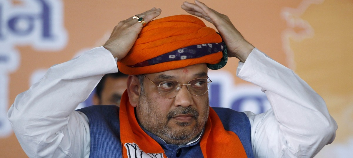 Less than two years after promising fireworks in Pakistan, Amit Shah brings up 'Kasab' in UP