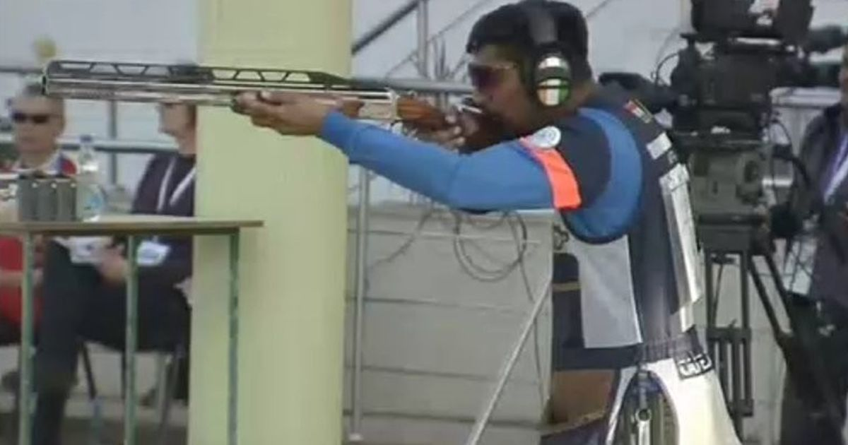 Ankur Mittal clinches silver in closely contested men's double trap final at shooting World Cup