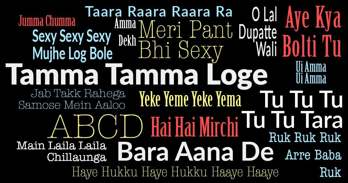 The nuttiest lyrics from 1990s Bollywood hits, starting with 'Tamma Tamma Loge'