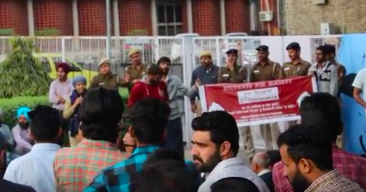 Panjab University: Activist addresses seminar in disguise after ABVP threatens to disrupt it