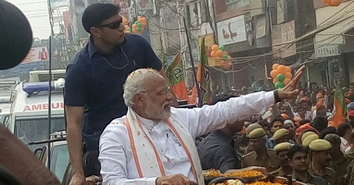 'Ghar Ghar Modi': Supporters cheer as prime minister begins UP polls road show in Varanasi