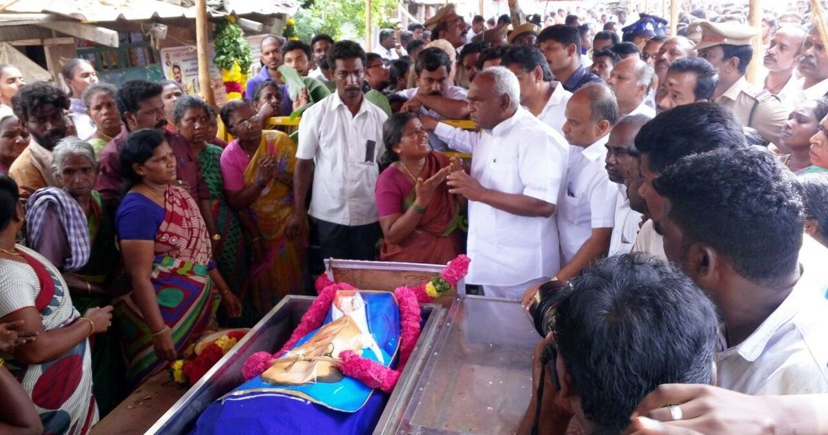 Tamil Nadu: Slipper hurled at Union minister who was attending JNU student Muthukrishnan's funeral