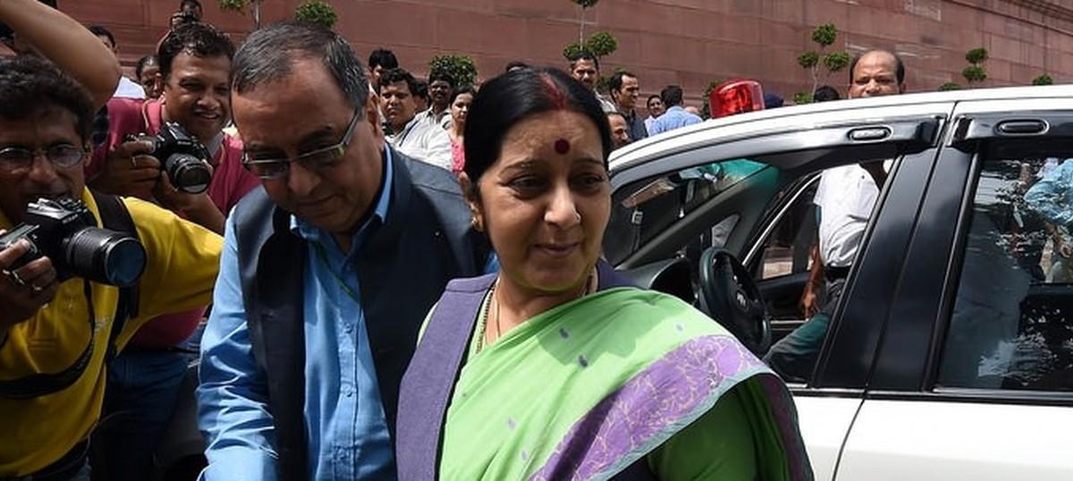 Sushma Swaraj seeks updates from Pakistan on two missing Indian clerics
