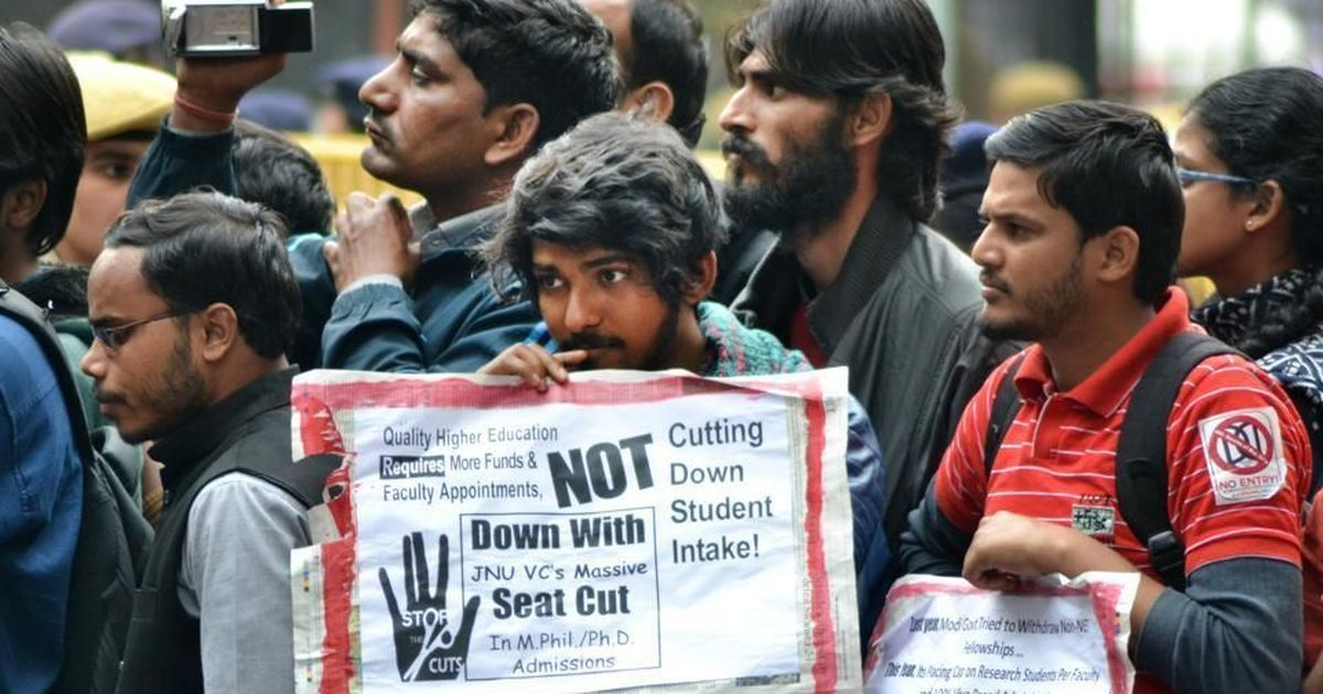 JNU is on strike against drastic cut in research seats, but all universities will be hit