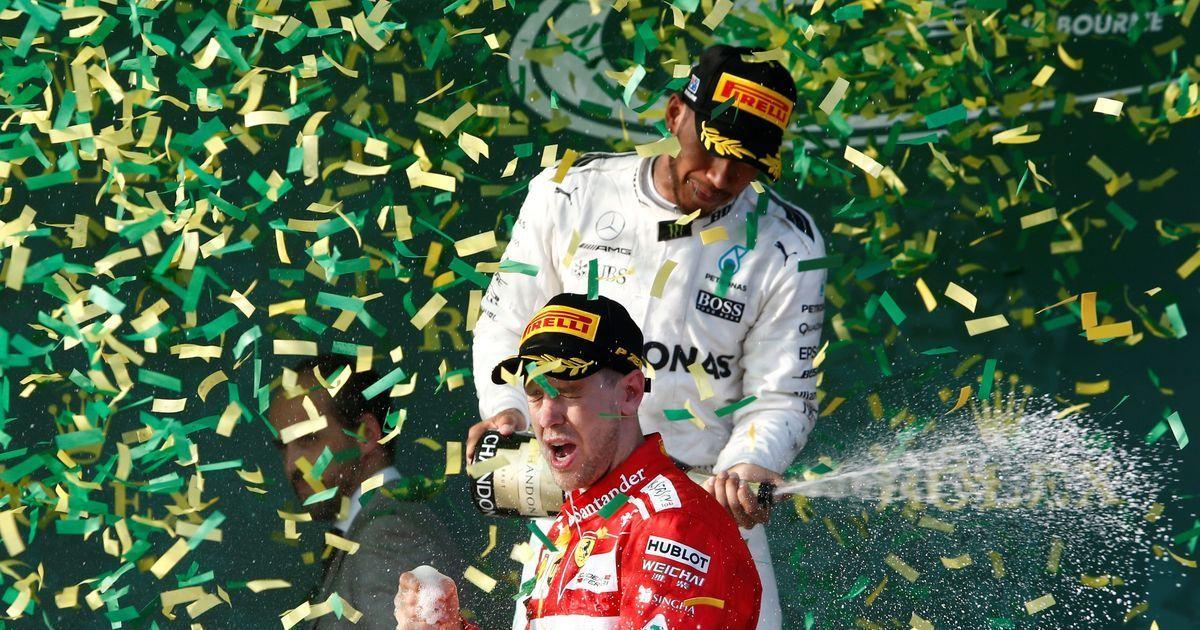 Ferrari's Sebastian Vettel wins Australian GP ahead of Mercedes' Lewis Hamilton and Valtteri Bottas
