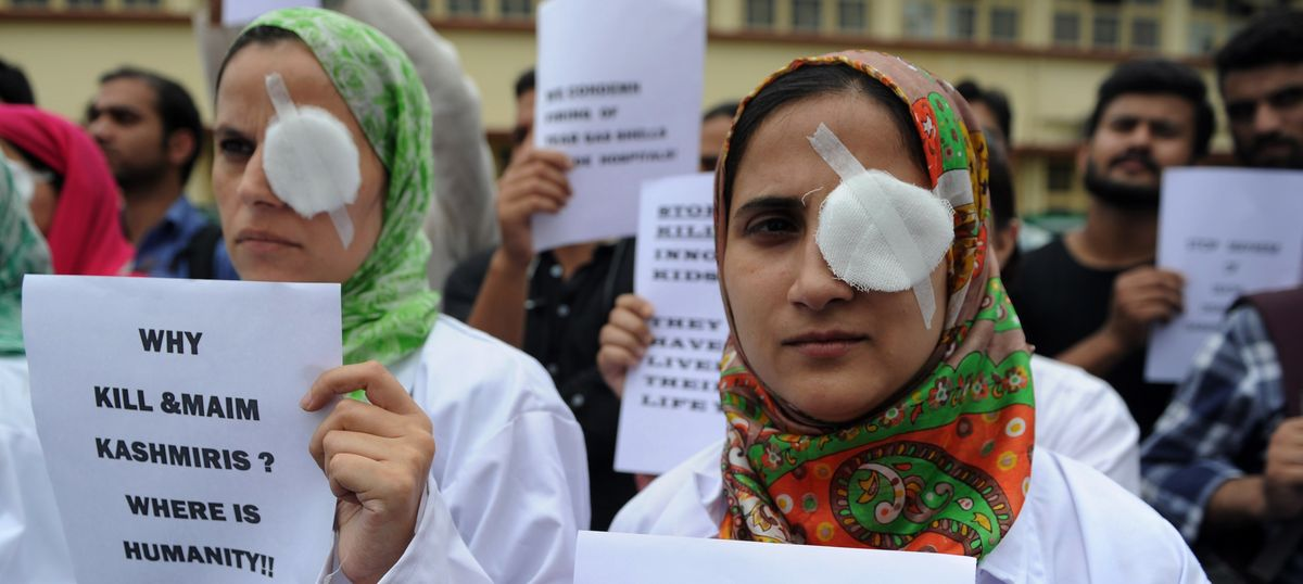 Pump action guns may be used to quell protests in Kashmir if alternatives fail, says government