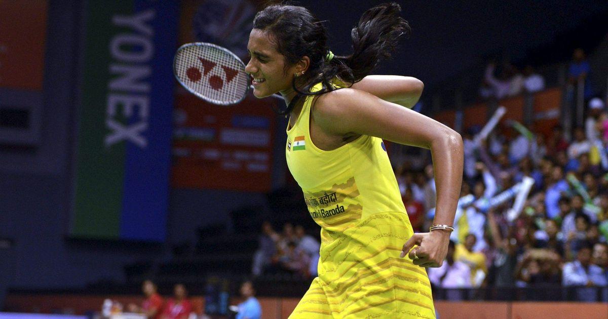 PV Sindhu overcomes Carolina Marin 21-19  21-16 to win the Indian Open title
