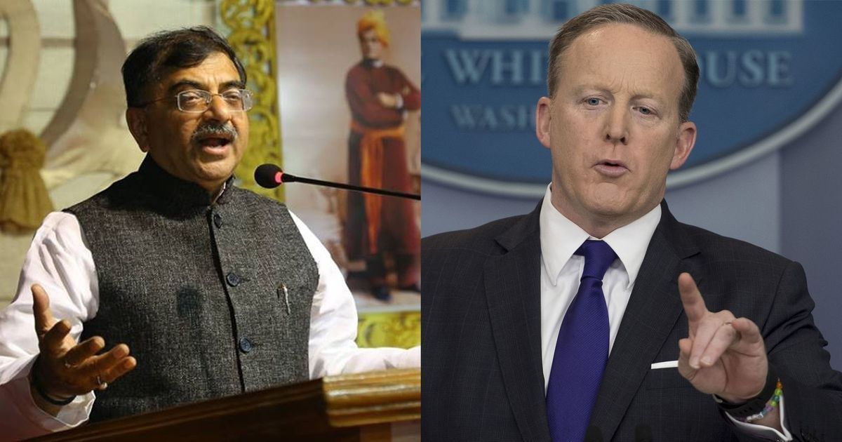 Not a slip: For Sean Spicer and Tarun Vijay, there's a clear divide between 'own' and 'other' people